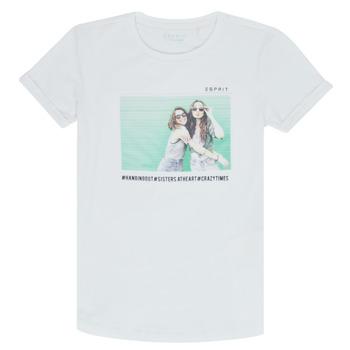 Textil Dívčí Trička s krátkým rukávem Esprit ELISH Bílá