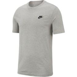 Textil Muži Trička s krátkým rukávem Nike Nsw Club Tee Šedé
