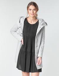 Textil Ženy Kabáty Moony Mood ADELINE Šedá / Světlá