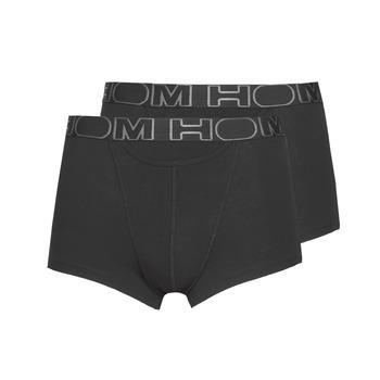 Spodní prádlo  Muži Boxerky Hom HOM BOXERLINES BOXER BRIEF HO1 PAXK X2 Černá