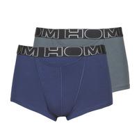 Spodní prádlo  Muži Boxerky Hom HOM BOXERLINES BOXER BRIEF HO1 PACK X2 Šedá / Tmavě modrá