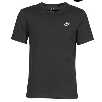 Textil Muži Trička s krátkým rukávem Nike M NSW CLUB TEE Černá / Bílá