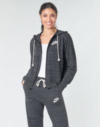 Textil Ženy Mikiny Nike W NSW GYM VNTG HOODIE FZ Šedá