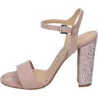 Boty Ženy Sandály Olga Rubini sandali camoscio sintetico strass Rosa