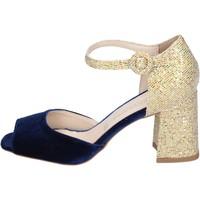 Boty Ženy Sandály Olga Rubini sandali velluto glitter Blu