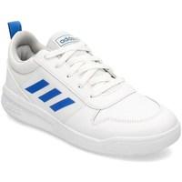 Boty Děti Šněrovací polobotky  & Šněrovací společenská obuv adidas Originals Tensaur K Bílé, Modré