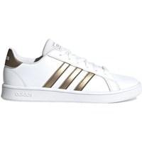 Boty Děti Nízké tenisky adidas Originals Grand Court Bílé,Zlaté