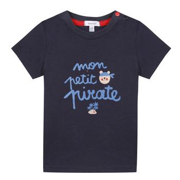 Textil Chlapecké Trička s krátkým rukávem Absorba NADINE Tmavě modrá