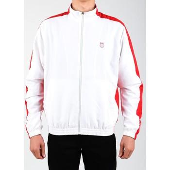 Textil Muži Teplákové bundy K-Swiss Accomplish Jacket 100250-119 white, red