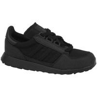 Boty Děti Šněrovací polobotky  & Šněrovací společenská obuv adidas Originals Forest Grove C Černé