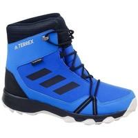 Boty Chlapecké Zimní boty adidas Originals Terrex Snow CP CW K Černé, Modré