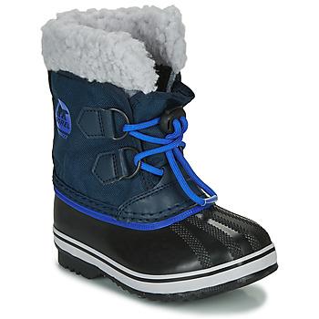 Boty Děti Zimní boty Sorel CHILDRENS YOOT PAC NYLON Modrá