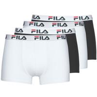 Spodní prádlo  Muži Boxerky Fila Pack de 4 Černá / Bílá