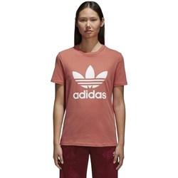 Textil Ženy Trička s krátkým rukávem adidas Originals Trefoil Červené
