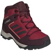 Boty Děti Pohorky adidas Originals Hyperhiker K Vínově červené,Červené