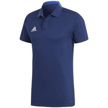 Textil Muži Polo s krátkými rukávy adidas Originals Condivo 18 Polo Modré