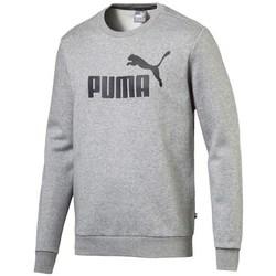 Textil Muži Mikiny Puma Ess Logo Crew Sweat FL Big Logo ME Šedé