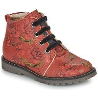 Boty Dívčí Kotníkové boty GBB NAREA Červená