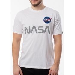 Textil Muži Trička s krátkým rukávem Alpha Nasa Reflective T bílá
