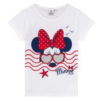Textil Dívčí Trička s krátkým rukávem TEAM HEROES MINNIE Bílá