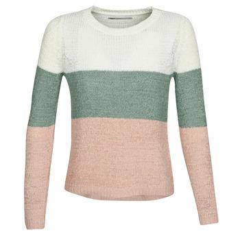 Textil Ženy Svetry Only ONLGEENA Béžová / Růžová