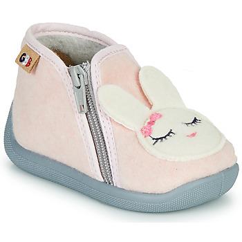Boty Dívčí Papuče GBB CORI TTX ROSE-BLANC DTX/CHAUSSON