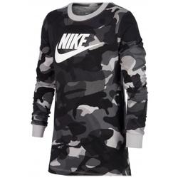 Textil Trička s dlouhými rukávy Nike B Nsw Tee Aop Camo vícebarevná