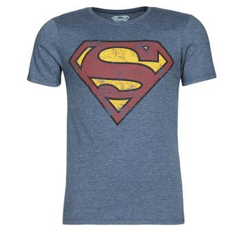Textil Muži Trička s krátkým rukávem Yurban SUPERMAN LOGO VINTAGE Tmavě modrá