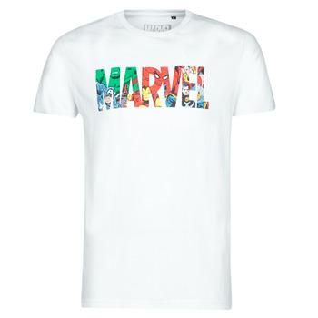 Textil Muži Trička s krátkým rukávem Yurban MARVEL HERO LOGO Bílá