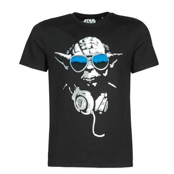 Textil Muži Trička s krátkým rukávem Yurban DJ YODA COOL Černá