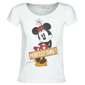 Textil Ženy Trička s krátkým rukávem Moony Mood MINNIE PERFECT GIRL Bílá