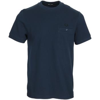 Textil Muži Trička s krátkým rukávem Fred Perry Pocket Detail Pique Shirt Modrá
