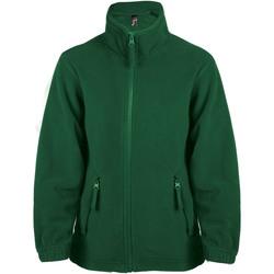 Textil Děti Fleecové bundy Sols NORTH SPORT KIDS Verde
