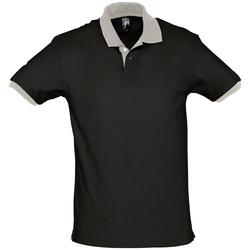 Textil Polo s krátkými rukávy Sols PRINCE COLORS Negro