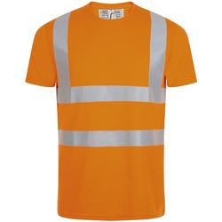 Textil Muži Trička s krátkým rukávem Sols MERCURE PRO VISIBLITY WORK Naranja