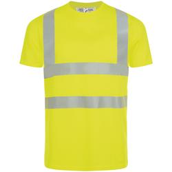 Textil Muži Trička s krátkým rukávem Sols MERCURE PRO VISIBLITY WORK Amarillo