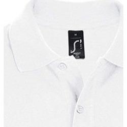 Textil Muži Polo s krátkými rukávy Sols PERFECT COLORS MEN Blanco