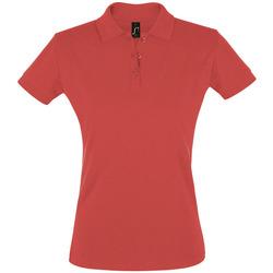 Textil Ženy Polo s krátkými rukávy Sols PERFECT COLORS WOMEN Rojo