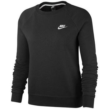 Nike Mikiny Essential Crew Fleece - Černá