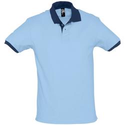 Textil Muži Polo s krátkými rukávy Sols PRINCE COLORS Azul