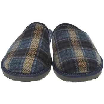 Boty Muži Papuče Bins Pánske modré papuče EDUARD modrá