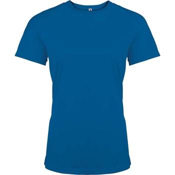 Textil Ženy Trička s krátkým rukávem Proact T-Shirt femme manches courtes  Sport bleu marine