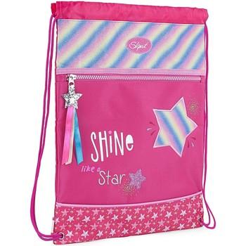 Taška Dívčí Sportovní tašky Skpat SHINE jako hvězda nylon Fuchsie