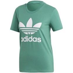Textil Ženy Trička s krátkým rukávem adidas Originals Trefoil Tee Zelené