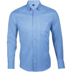 Textil Muži Košile s dlouhymi rukávy Sols BUSINESS MEN Azul