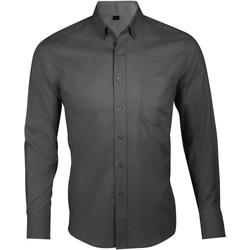 Textil Muži Košile s dlouhymi rukávy Sols BUSINESS MEN Gris