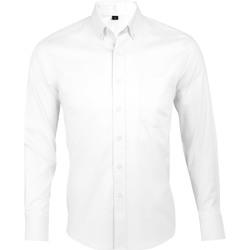 Textil Muži Košile s dlouhymi rukávy Sols BUSINESS MEN Blanco