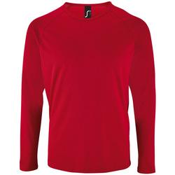 Textil Muži Trička s dlouhými rukávy Sols SPORT LSL MEN Rojo