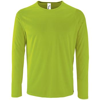 Textil Muži Trička s dlouhými rukávy Sols SPORT LSL MEN Verde