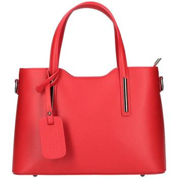 Taška Ženy Kabelky  Borse In Pelle Kožená červená dámská kabelka do ruky Maila červená
